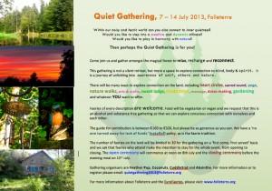 2013 Quiet Gathering