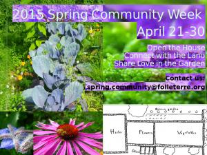 2015 Spring Community Week